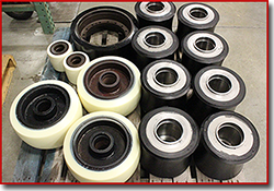 large casted urethane rollers