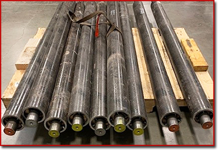 steel roller axles or cores