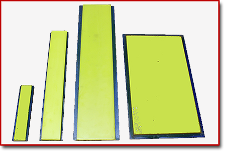 different sizes of steel backed urethane strips