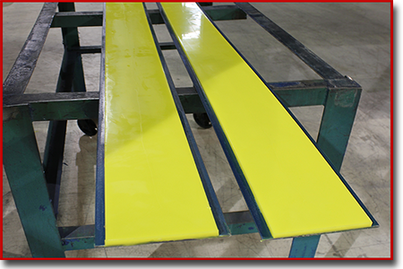 urethane steel backed strips